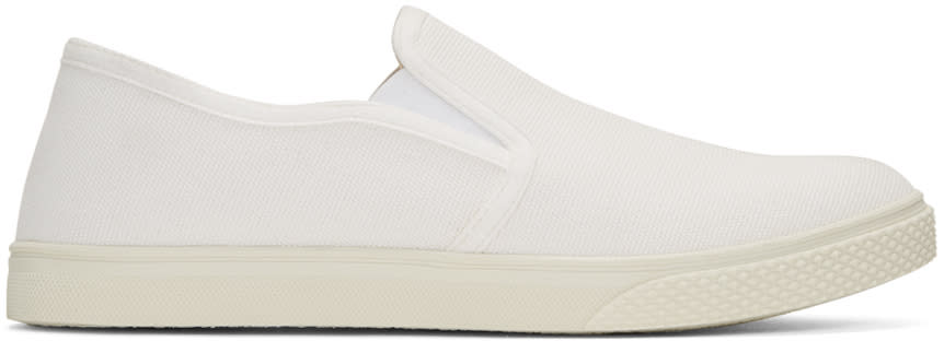 Stella Mccartney White Canvas Slip-on Sneakers