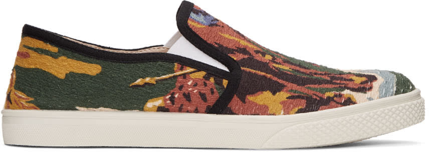 Stella Mccartney Multicolor Printed Slip-on Sneakers