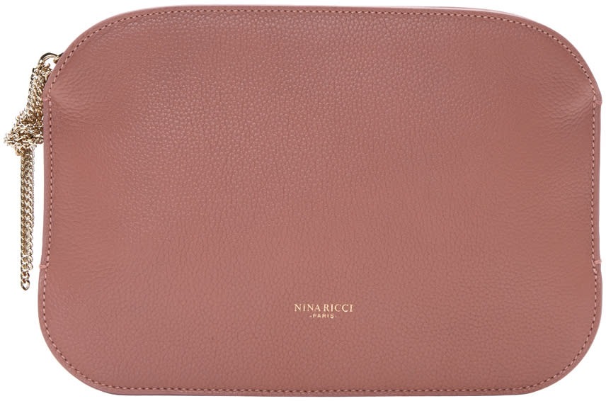 Nina Ricci Pink Leather Elide Pouch