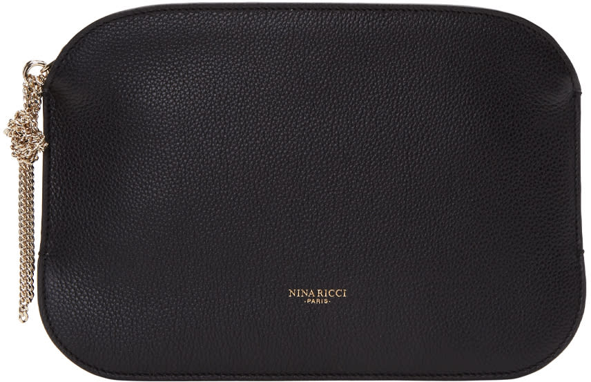 Nina Ricci Black Leather Elide Pouch
