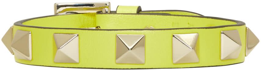 Valentino Yellow Small Rockstud Bracelet