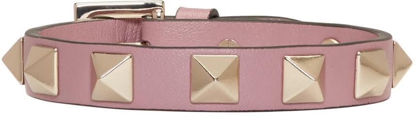 Valentino Pink Small Rockstud Bracelet