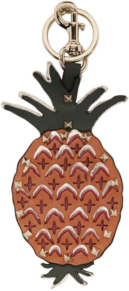 Valentino Orange Pineapple Keychain