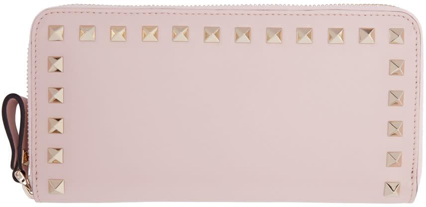 Valentino Pink Rockstud Continental Wallet