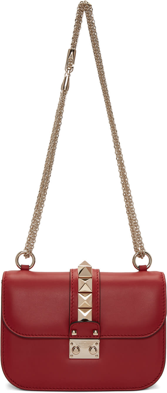Valentino Red Small Lock Bag