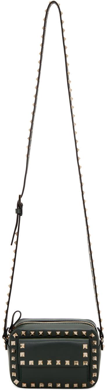 Valentino Green Small Rockstud Crossbody Bag