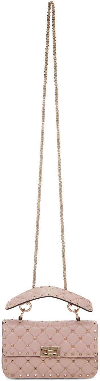Valentino Pink Small Rockstud Spike Chain Bag