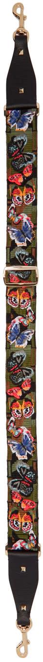 Valentino Multicolor Camo Butterfly Shoulder Strap