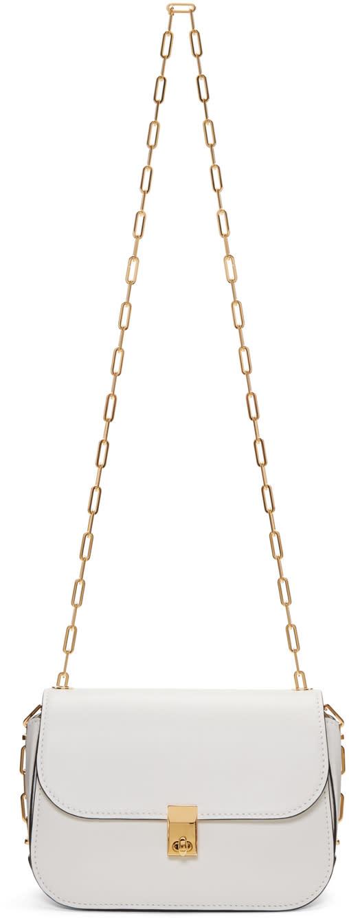 Valentino White Chain Bag