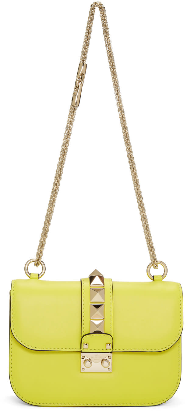 Valentino Yellow Small Lock Bag