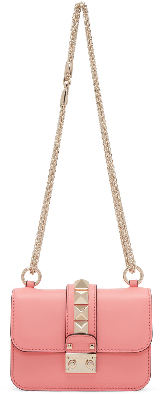 Valentino Pink Mini Lock Bag