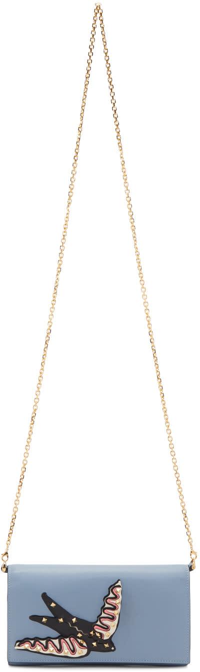 Valentino Blue Small garden Of Delight Wallet Chain Bag