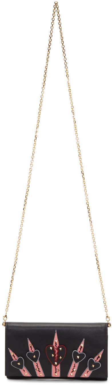 Valentino Black Small Love Blade Wallet Chain Bag