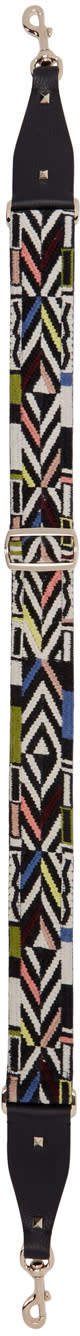 Valentino Multicolor Guitar Rockstud Shoulder Strap