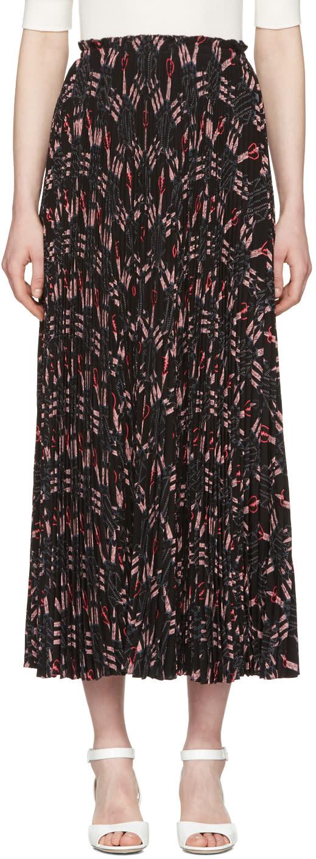 Valentino Black Pleated Love Blade Skirt