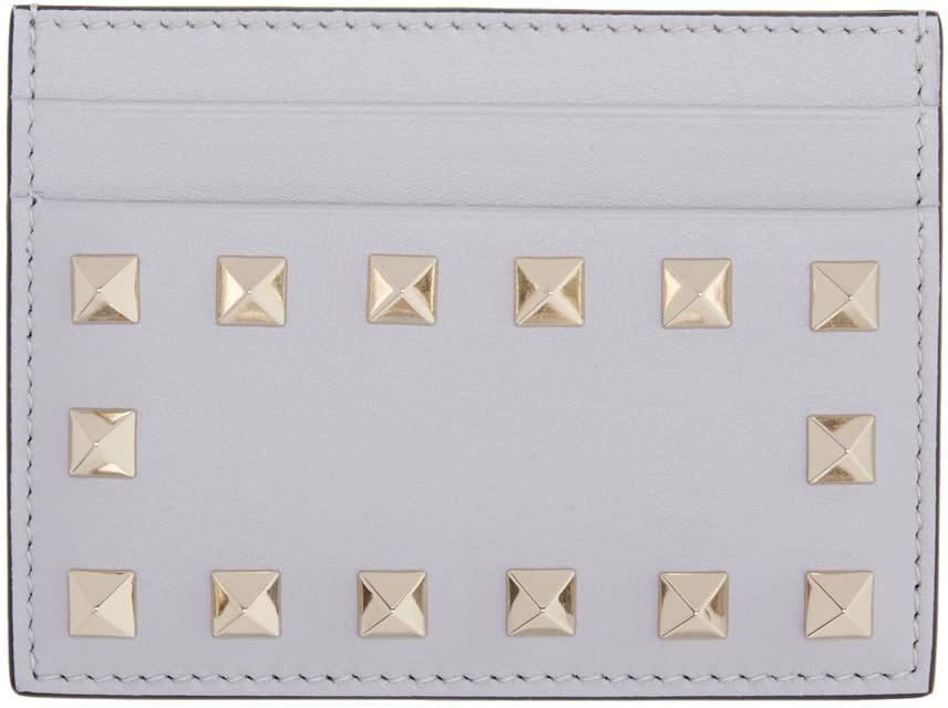 Valentino Grey Rockstud Card Holder