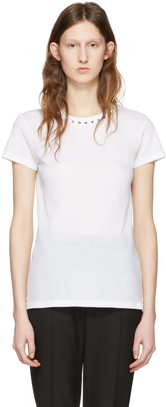 Valentino White rockstud Untitled 09 T-shirt