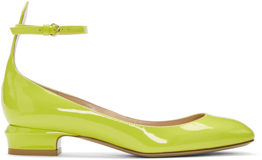 Valentino Yellow Tango Mary Jane Heels
