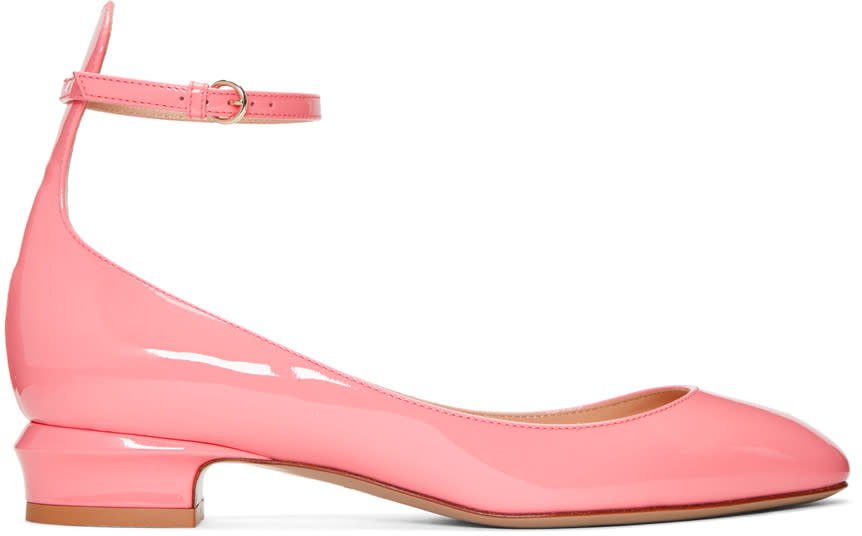 Valentino Pink Tango Mary Jane Heels