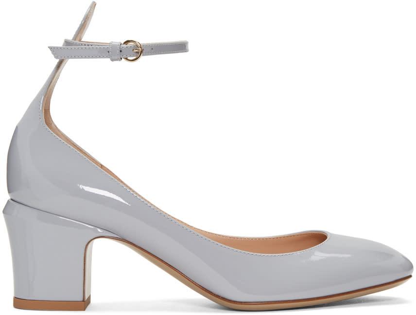 Valentino Grey Tango Mary Jane Heels