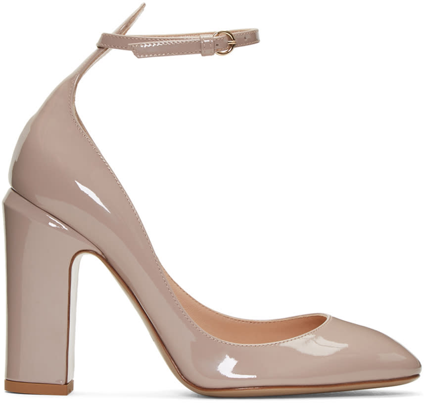 Valentino Pink Patent Tan-go Mary Janes