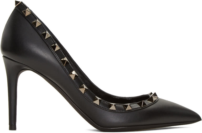 Valentino Black Rockstud Heels