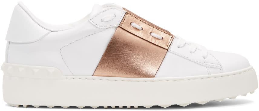 Valentino White Open Sneakers