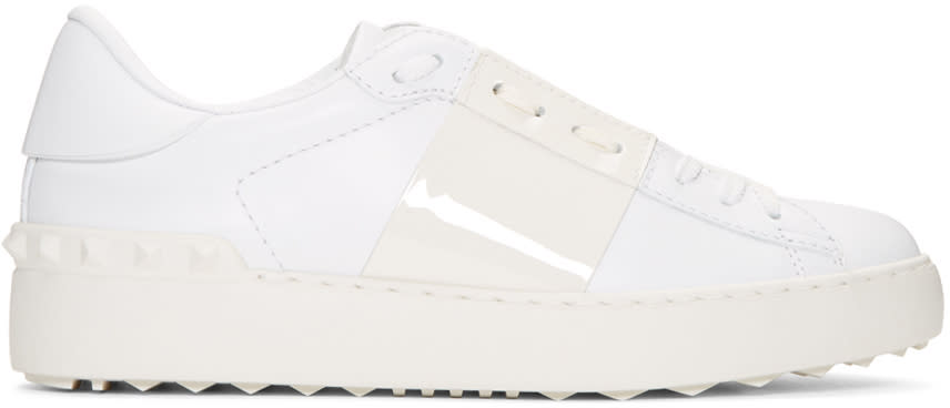 Valentino White Open Sneakers