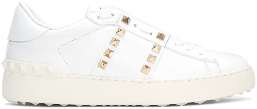 Valentino White Rockstud Untitled Sneakers