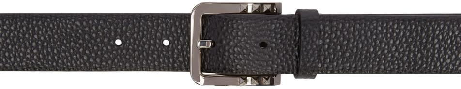 Valentino Black Mini Rockstud Buckle Belt