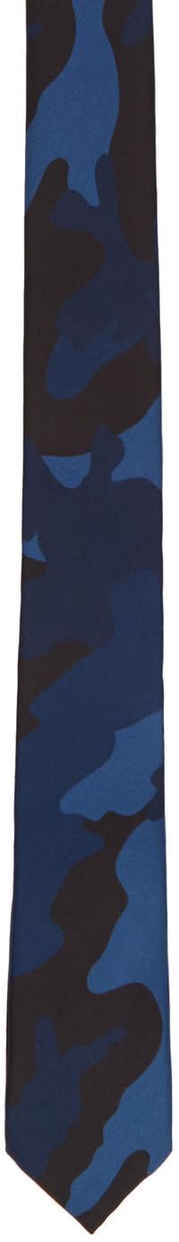 Valentino Blue Camo Tie