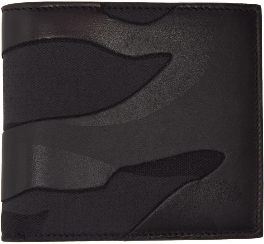 Valentino Black Camouflage Bifold Wallet
