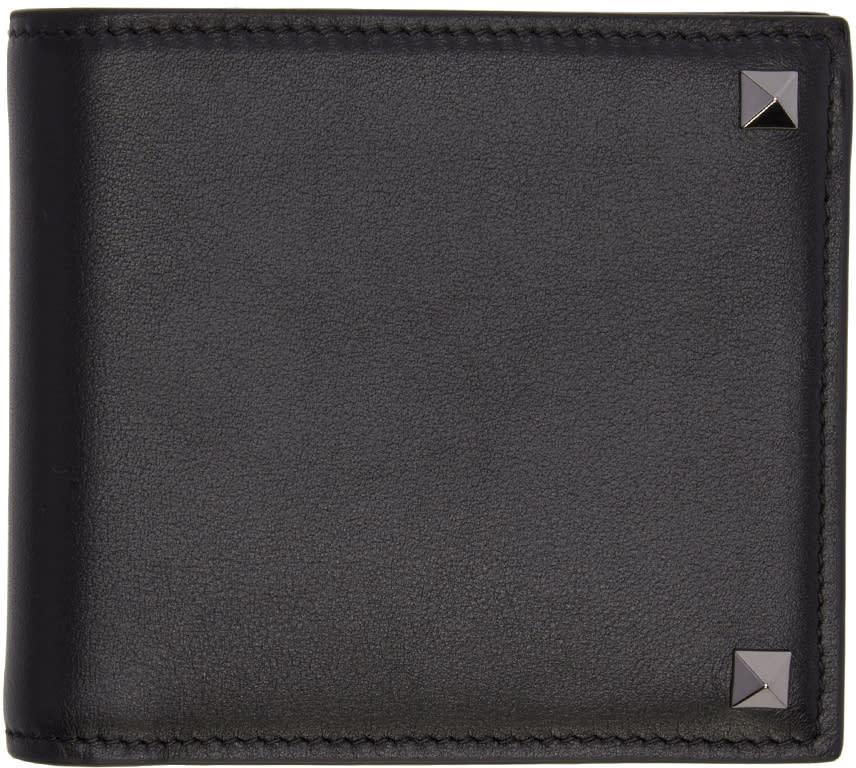 Valentino Black Big Rockstud Wallet