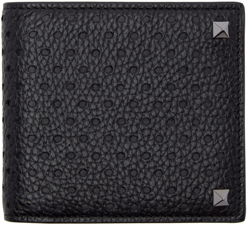 Valentino Black Rockstud Bifold Wallet