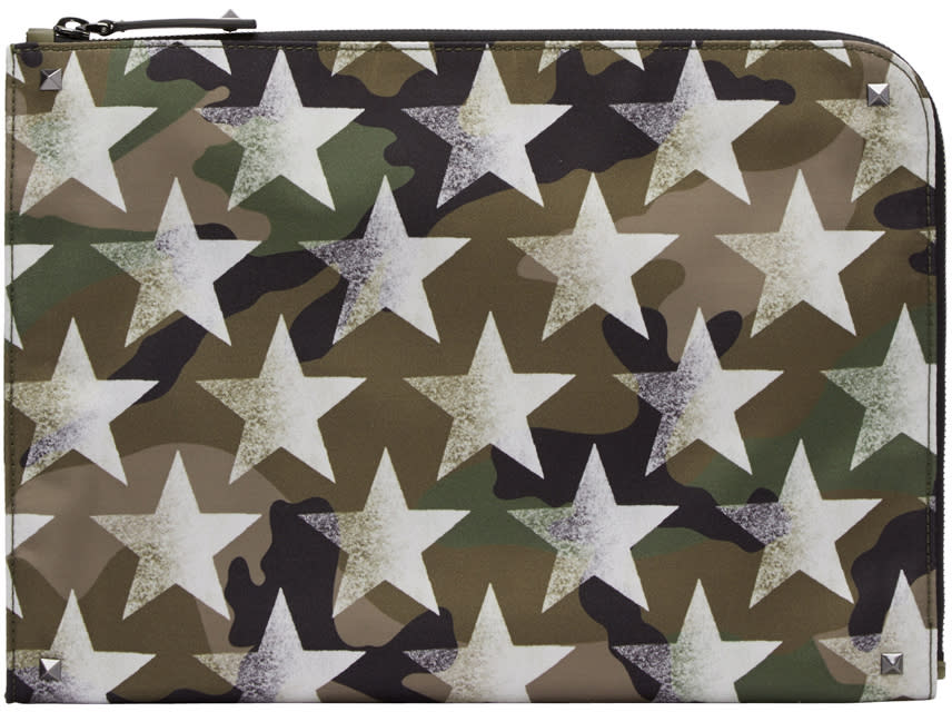 Valentino Green Shaded Star Pouch