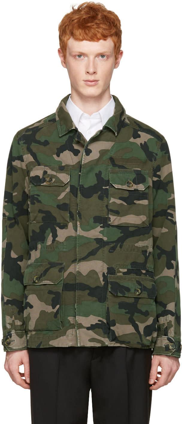 Valentino Green Camo Cargo Jacket