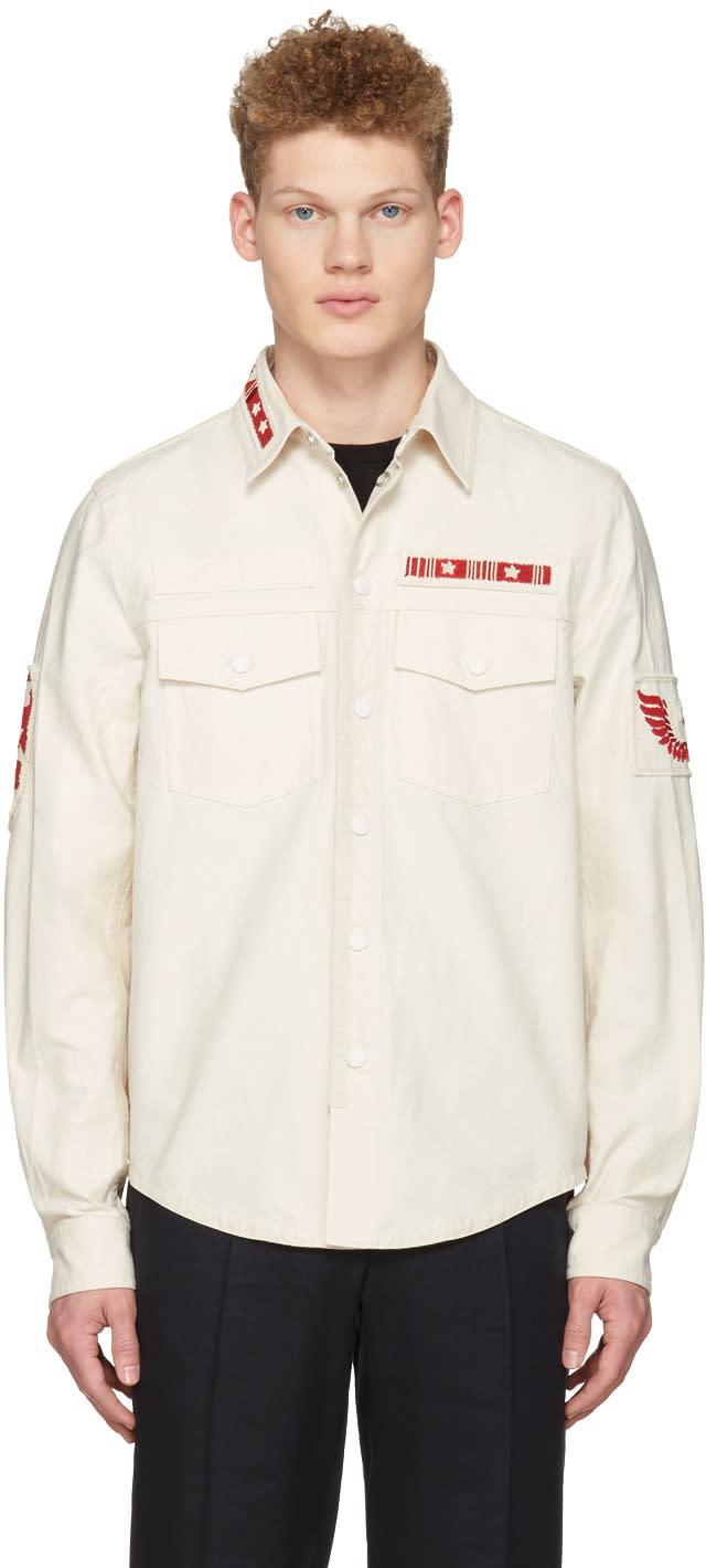 Valentino Ecru Patched Field Jacket