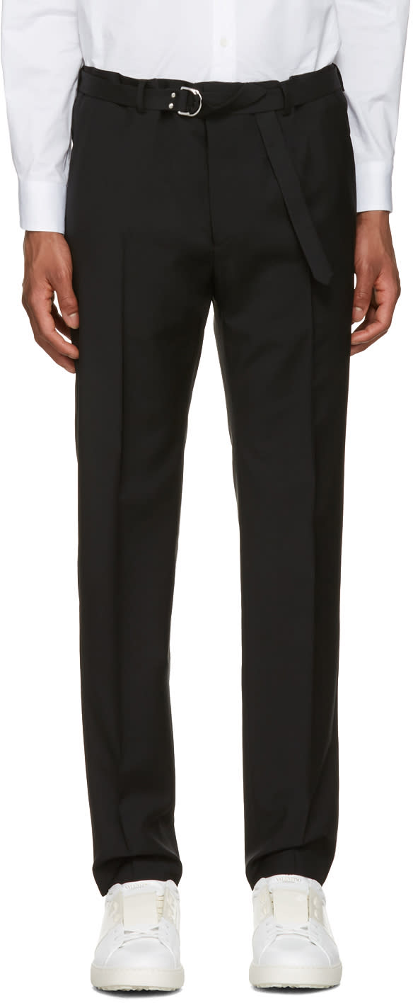 Valentino Black Belted Trousers