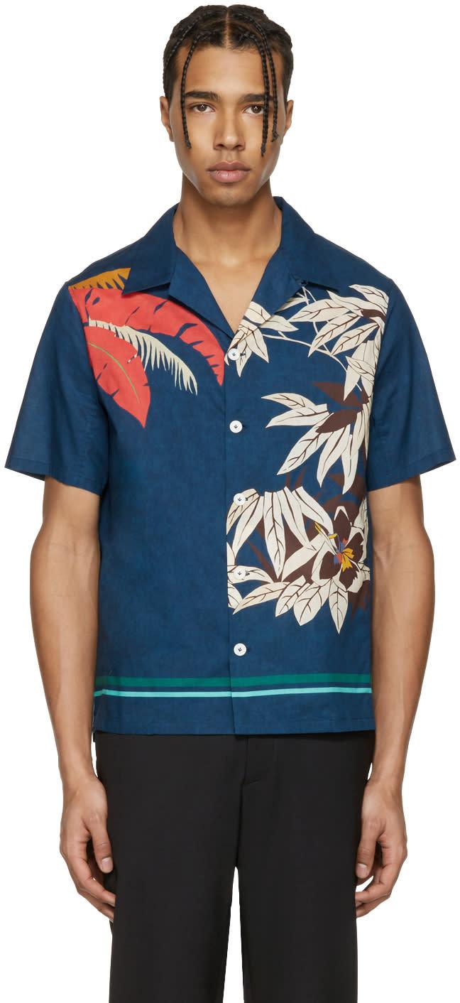 Valentino Blue Tree Shirt