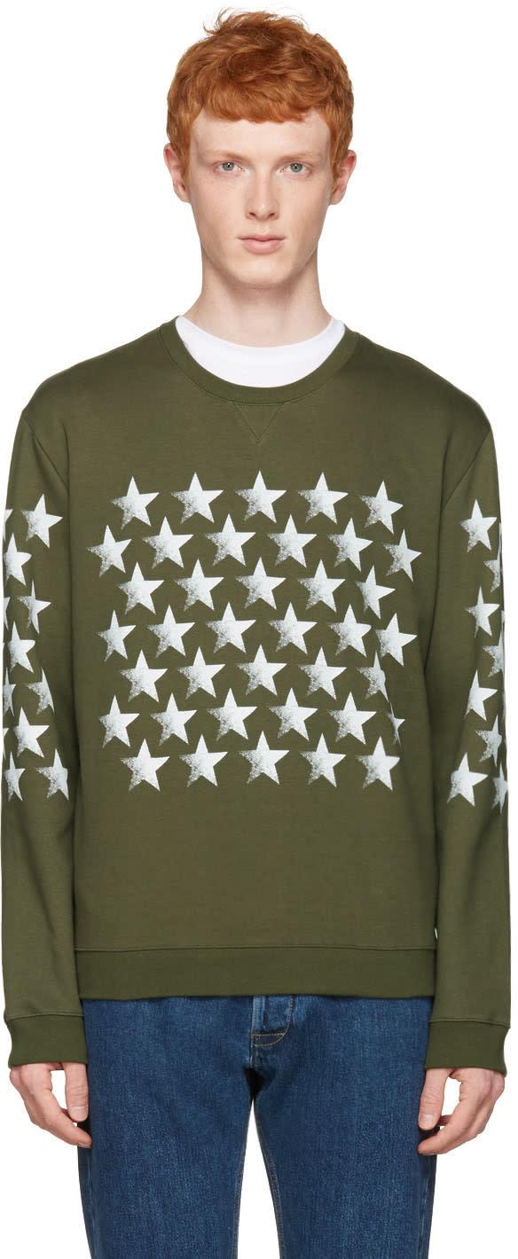 Valentino Green Star Pullover