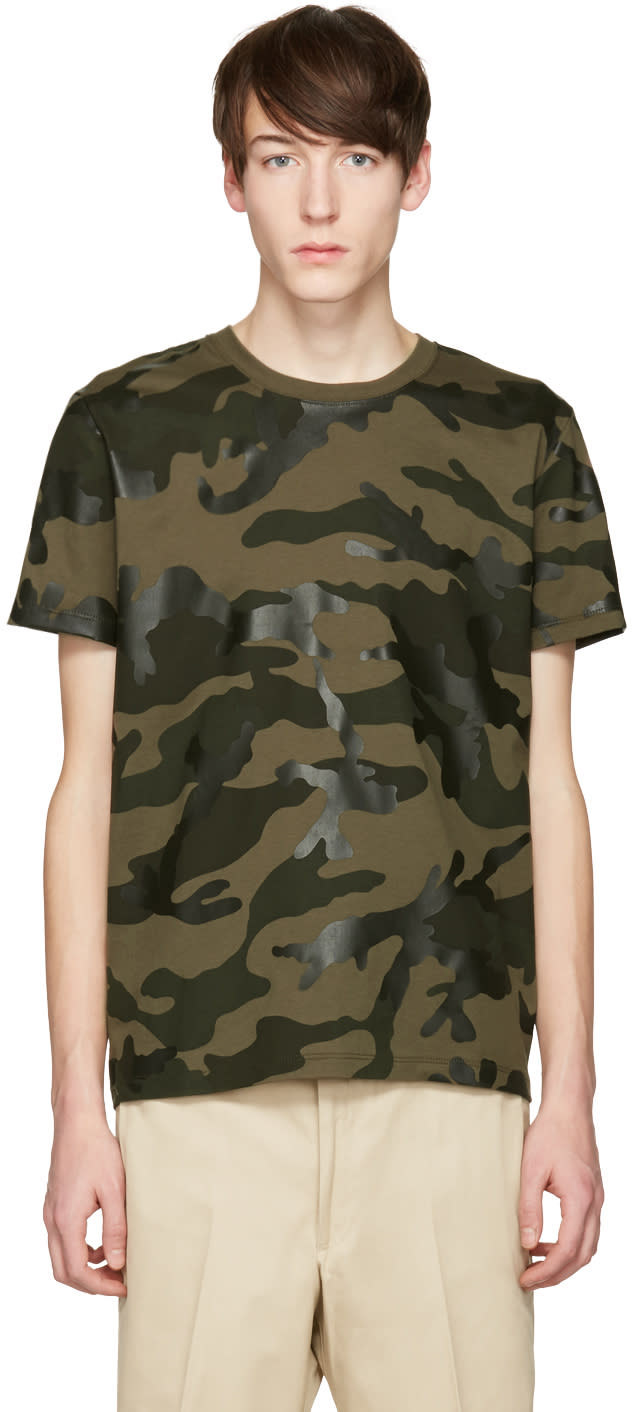 Valentino Green Camo T-shirt