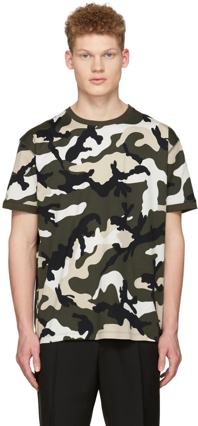 Valentino Green New Camo T-shirt