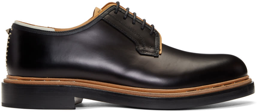 Valentino Black Leather Runway Derbys