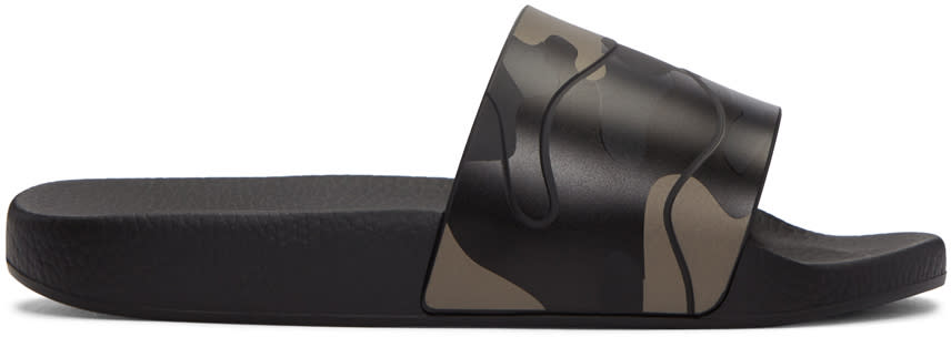 Valentino Black Camo Sandals