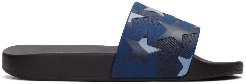 Valentino Blue Camo Star Sandals