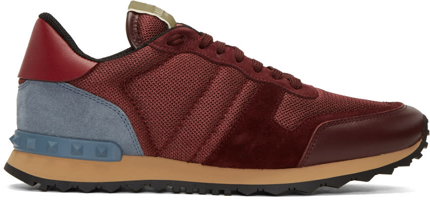 Valentino Red Mesh Rockrunner Sneakers