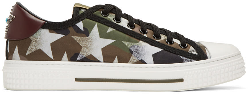 Valentino Green All Rock Sneakers