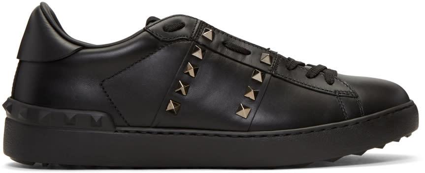 Valentino Black rockstud Untitled Noir Sneakers