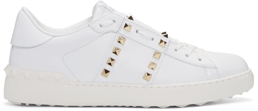 Valentino White rockstud Untitlted 11 Sneakers