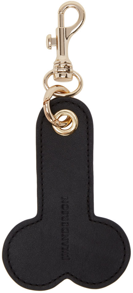 J.w. Anderson Black Penis Keychain